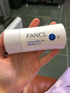 Fancl 無添加 防曬 sunguard 50+ protect UV