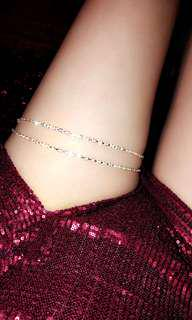 Diamond thigh chain