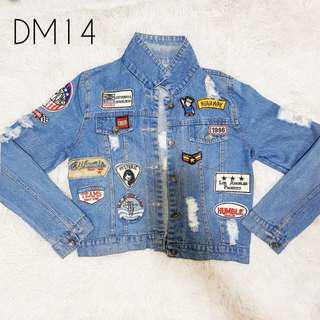 Ripped Denim Jacket w/ Patches