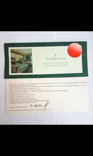 Manila Hotel Room Overnight Voucher