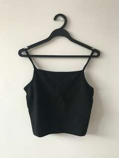 🚚 Black strip Crop Top