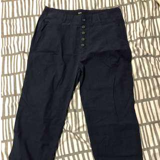 YesStyle Navy Cropped Pants