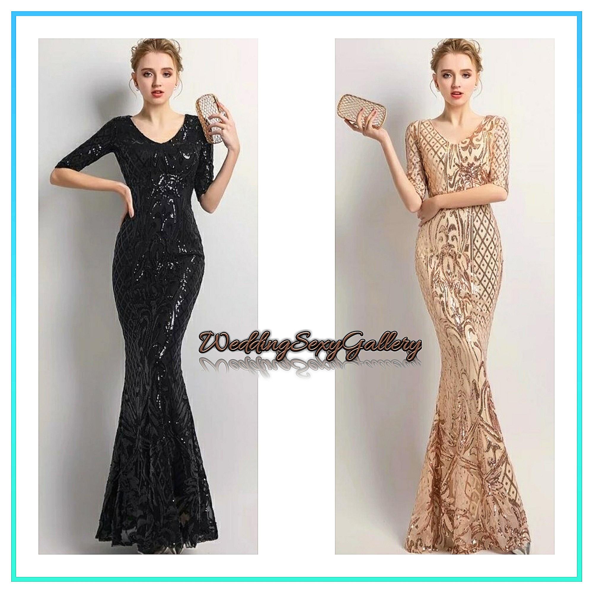 9adf3380ef6 05 🌹⏺🅿🅾⏺🌹YIDINGZS Women s Elegant Mermaid Gold Sequins Dress ...