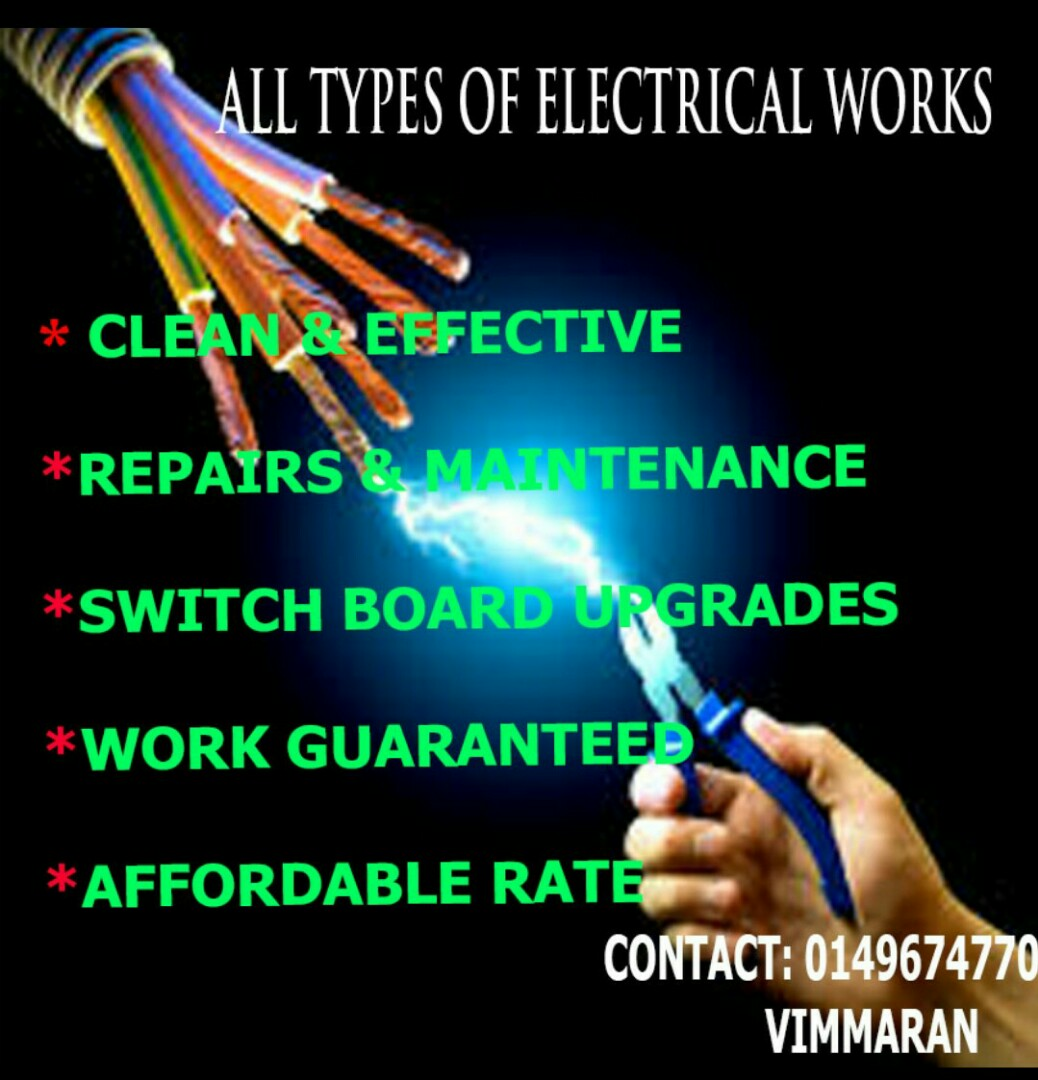 All Types of Electrical Wiring and PC Repair Works, Everything Else ...