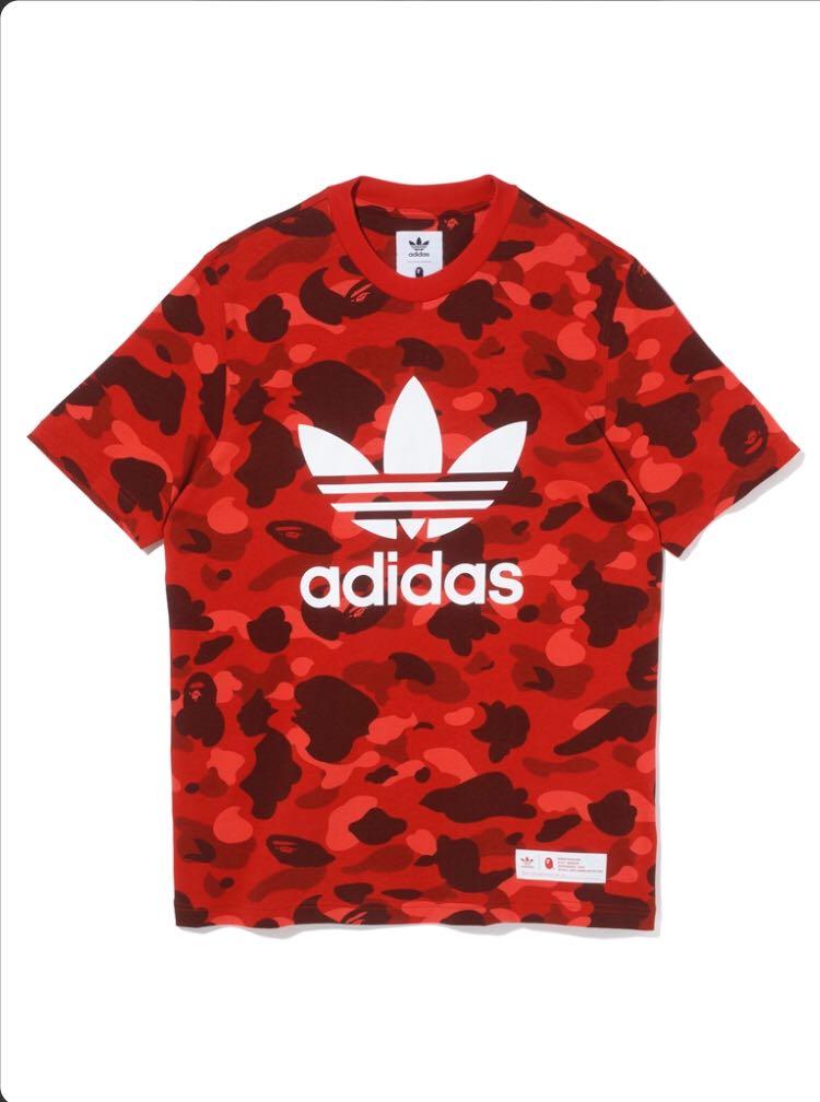 8f79decb207f Bape adidas adicolor t shirt red