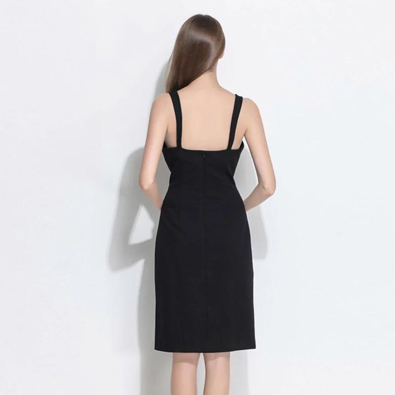 45852da010e Black dress with Gold studs