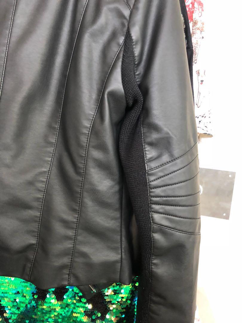 Black pu jacket size 10