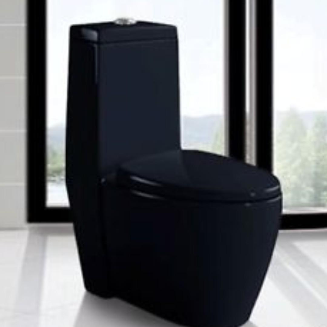Geberit Black Toilet Bowl Water Closet System Home Liances