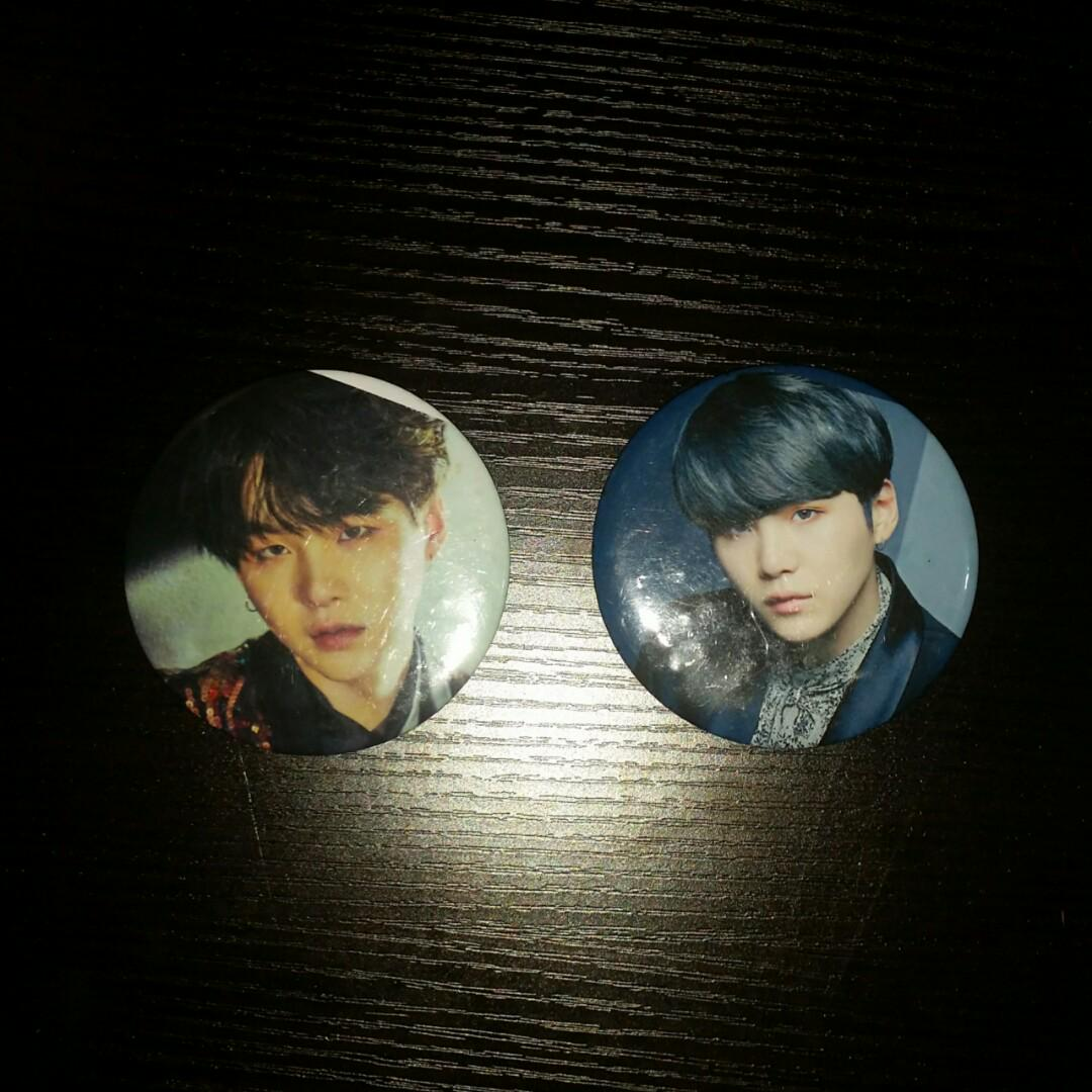 BTS Suga Circle Pin Badge