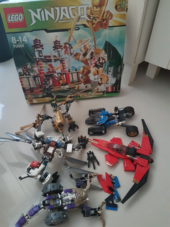 Bunch Of Lego Ninjago Toys Games Bricks Figurines On Skeleton Tower 7093 Carousell