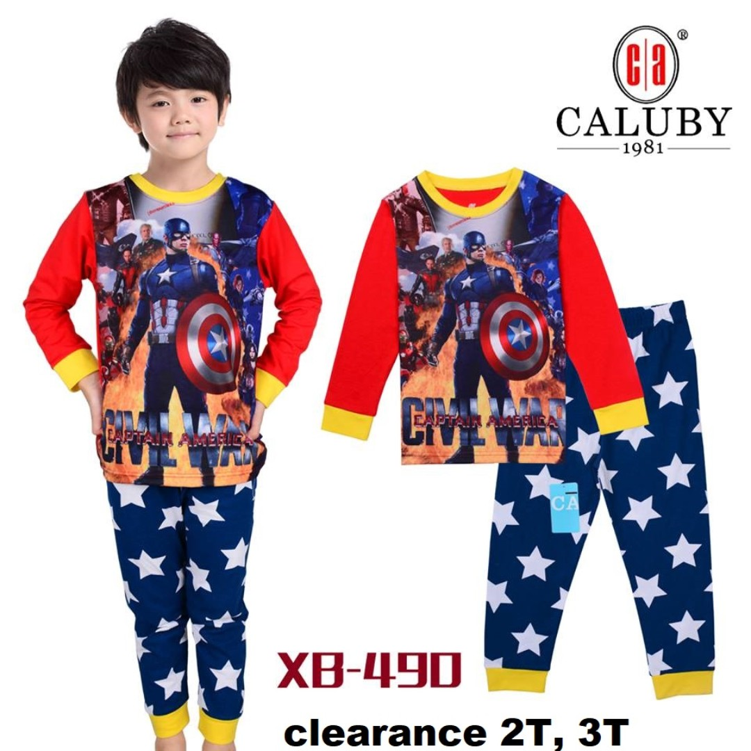 Captain America Civil War Long Sleeve Pyjamas For (2 Yrs To 7 Yrs ... d827330d4