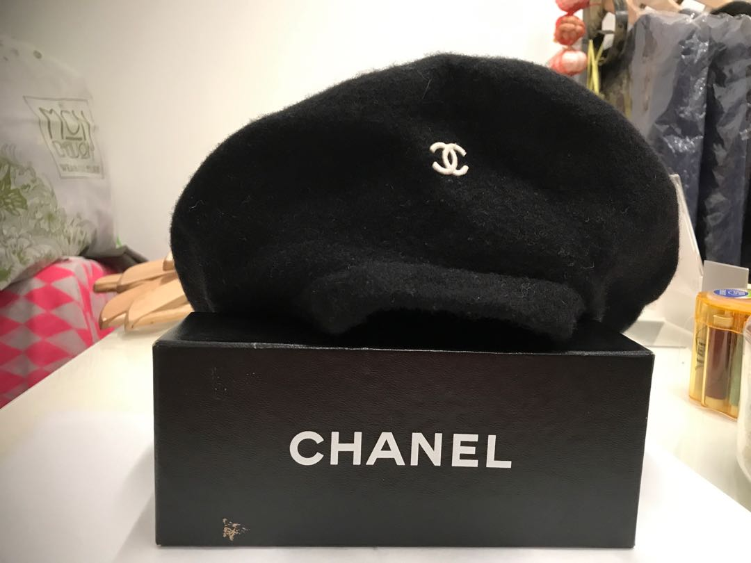 Chanel beret hat cap 空军帽 22e85dc43e4