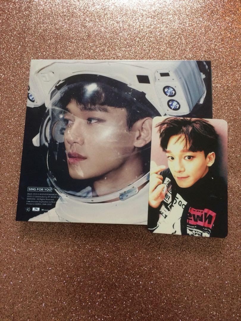 CHEN EXO SING FOR YOU KOREAN ALBUM