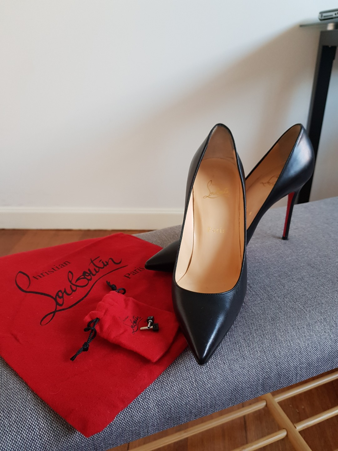 a3f3ff6fc96d Christian Louboutin  Pigalle  in Black Leather