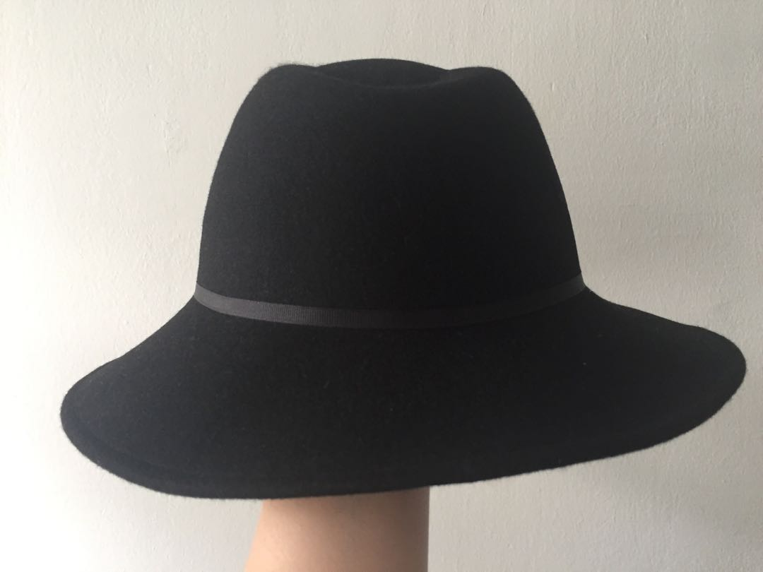 98887952ba2 Felted Black Sun Fedora Hat