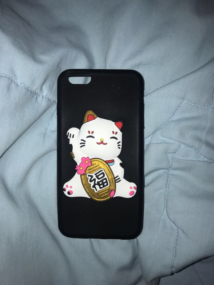 Fortune Cat Iphone 6 Soft Case Silicone Mobile Phones Tablets Usupso For Plus Transparant Tablet Accessories On Carousell