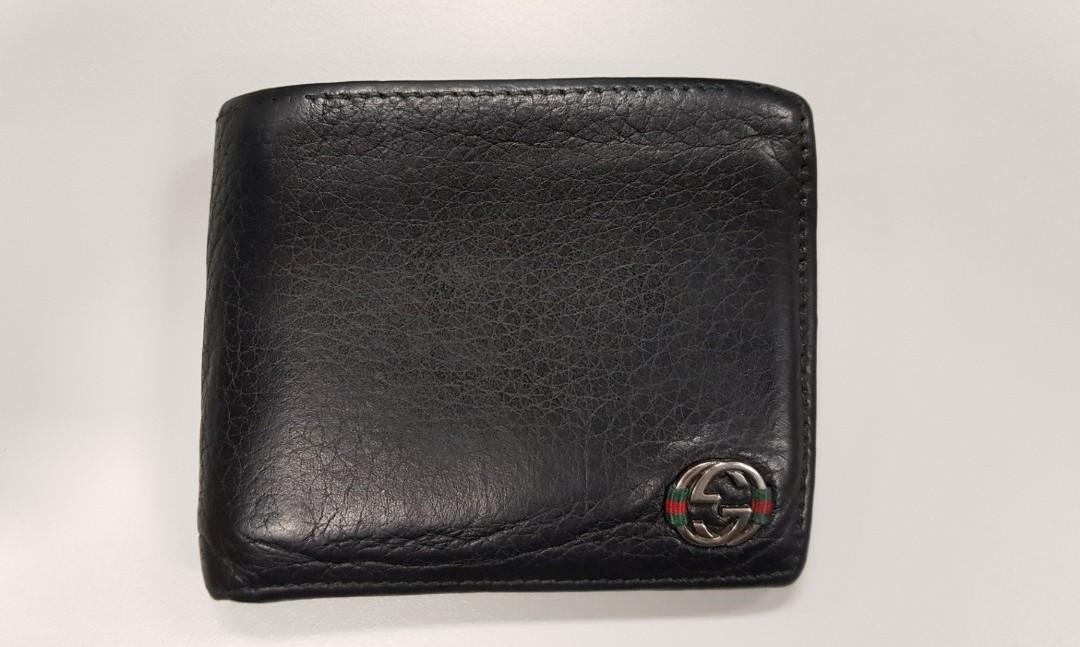 264bd33da67789 Used Gucci Ace Black Bifold Mens Wallet, Luxury, Bags & Wallets ...