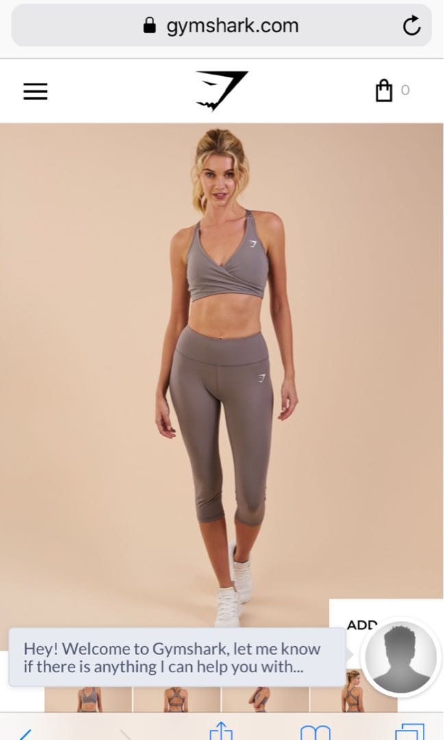 de4bbc6dbbe31 GYMSHARK DREAMY CROPPED LEGGINGS IN SLATE GREY, Sports, Sports ...