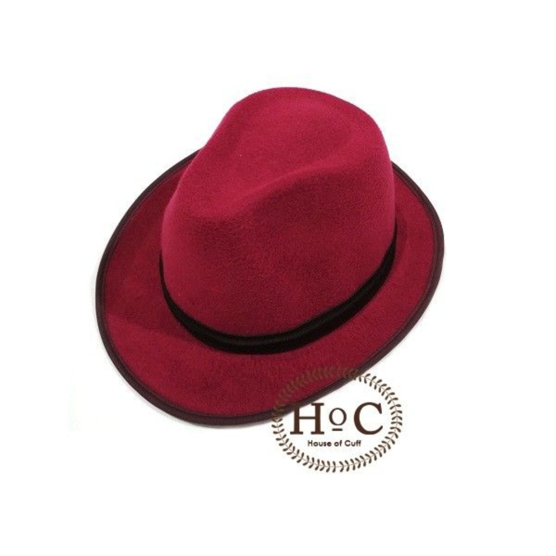 HOUSEOFCUFF Topi Fedora Hat LIGHT PURPLE FEDORA HAT 0dfc4f297b