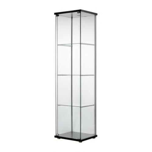 Ikea Glass Cabinet Detolf Furniture Shelves Drawers On Carousell