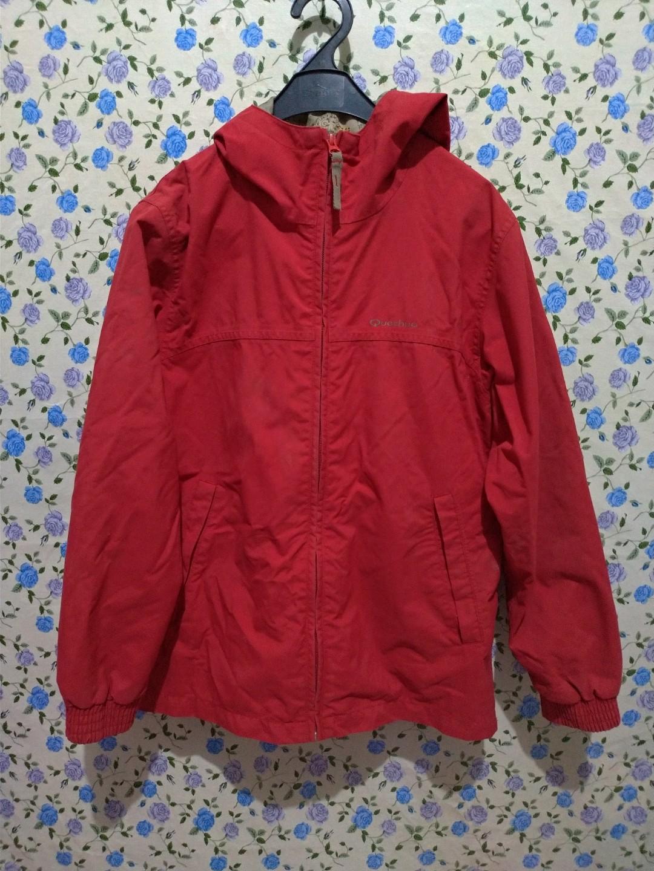 Jaket Parka Wanita Red Fesyen Pakaian Di Carousell Warna Merah Maroon