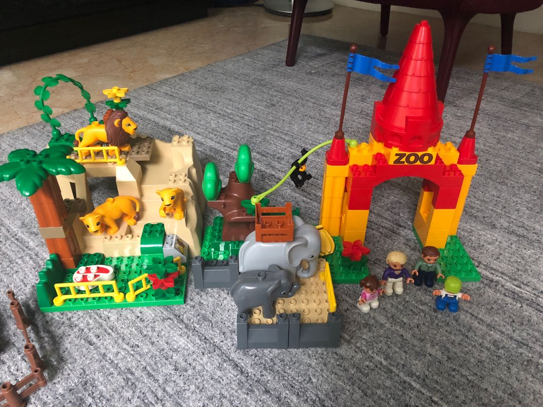 Lego Duplo Giant Zoo 4960 Retired Set Toys Games Bricks 10593 Fire Station Figurines On Carousell