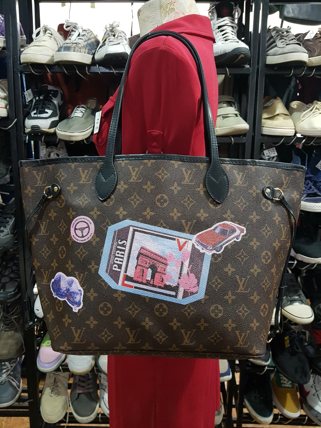Authentic Quality LV Neverfull Monogram 3875a8a9cf36f