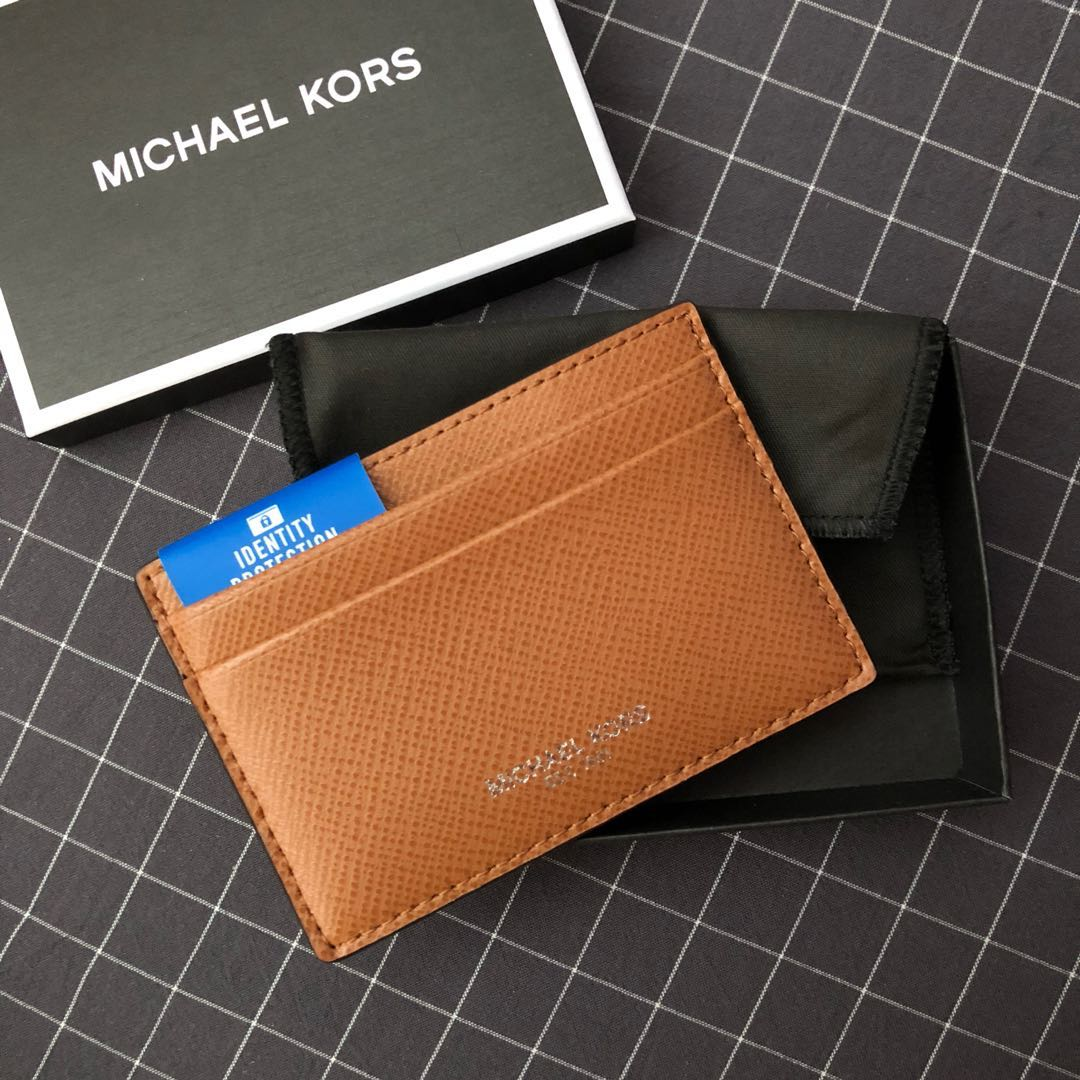 509624db619b Michael Kors Harrison Leather Card Holder