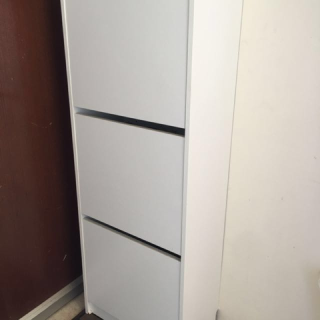 Moving out sale-IKEA BISSA shoe cabinet Furniture Shelves u0026 Drawers on Carousell & Moving out sale-IKEA BISSA shoe cabinet Furniture Shelves ...