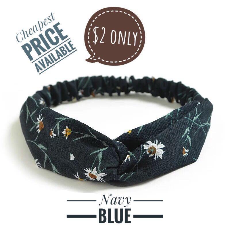 Navy Floral Headband 2cf4264888e