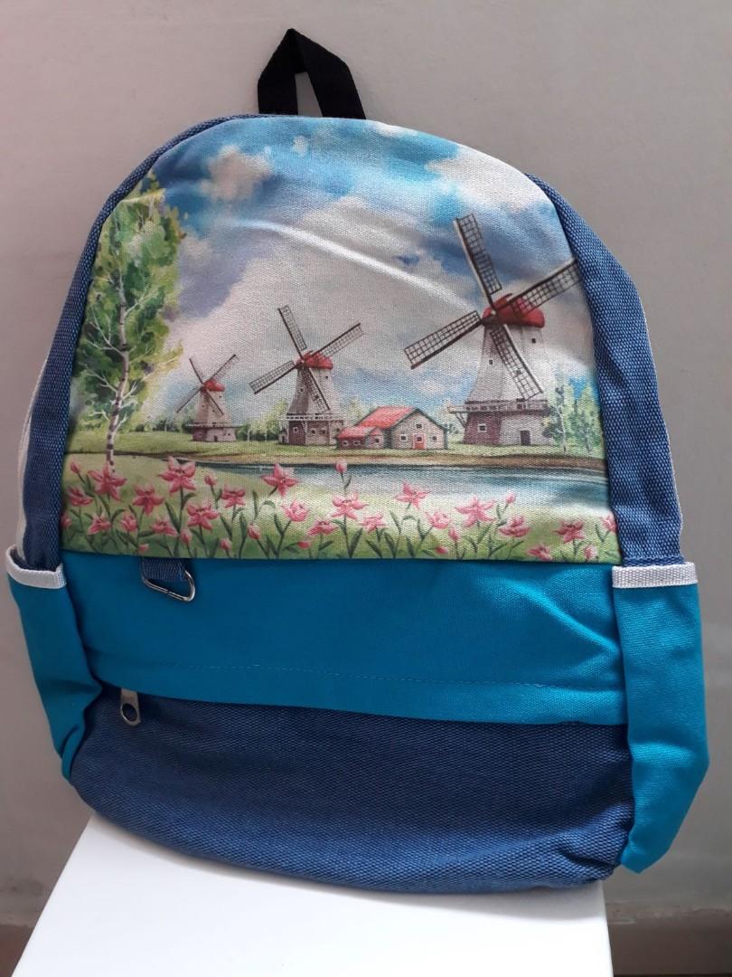 d1af2f29b9c New scenery picture backpack bag