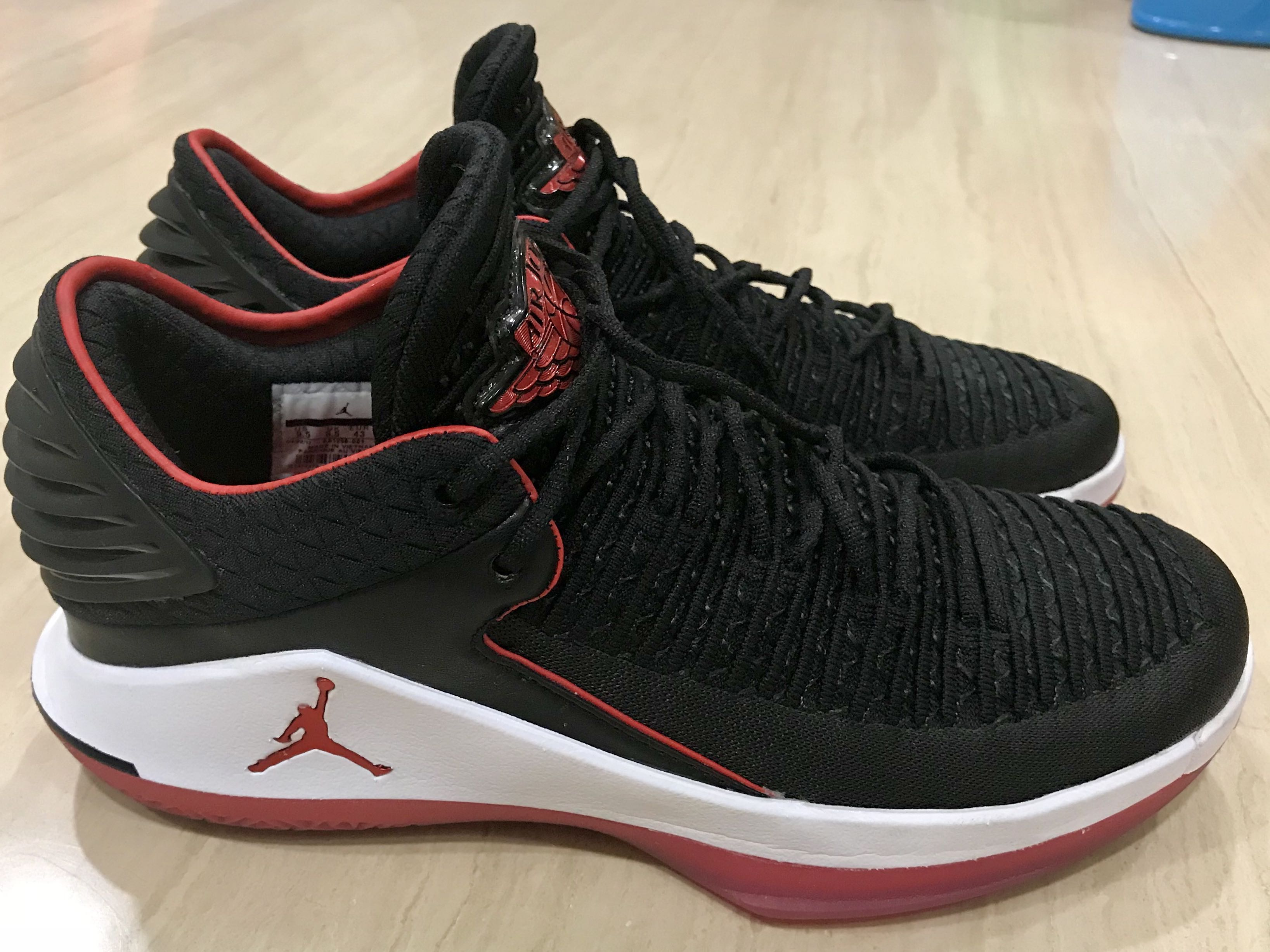 "889c5ffab4d6 Original Nike Flyknit Air Jordan XXXII Low ""Bred"" w  box Size US9.5 Eur43  mint"