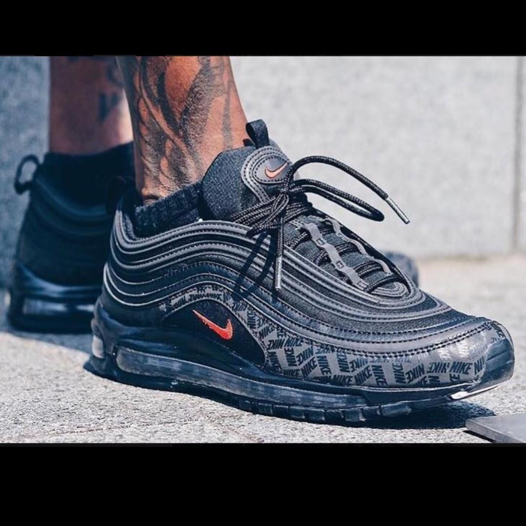 b640760820 (PO) Nike Mens Air Max 97 Reflective Triple Black Print, Men's Fashion,  Footwear, Sneakers on Carousell