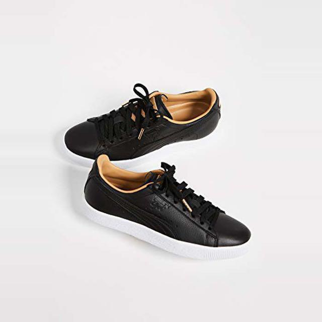 the latest ac0ac 18150 Puma Clyde Core Leather Sneakers Shoes Black, Women's ...