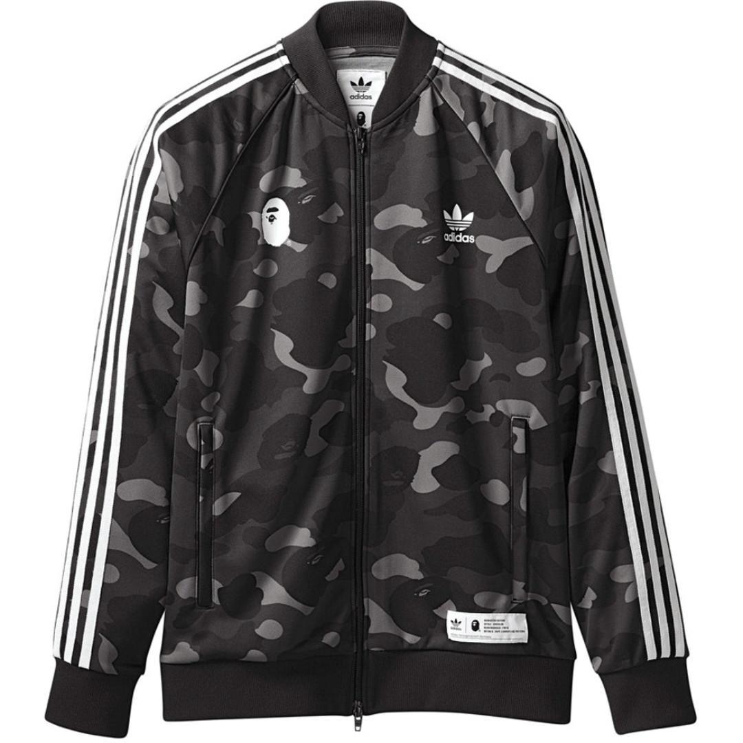 a6d3c48e05 S) Bape x Adidas Track Top Jacket - Black Cinder, Men's Fashion ...