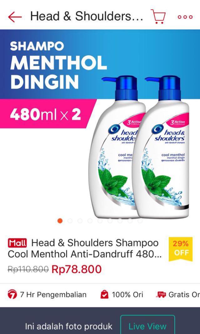 Shampoo head and shoulders