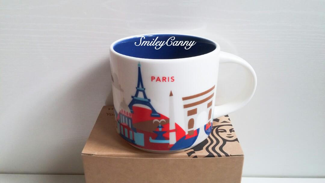 Starbucks Cities Mug Are Paris France You Here Collection XwOiukZTPl