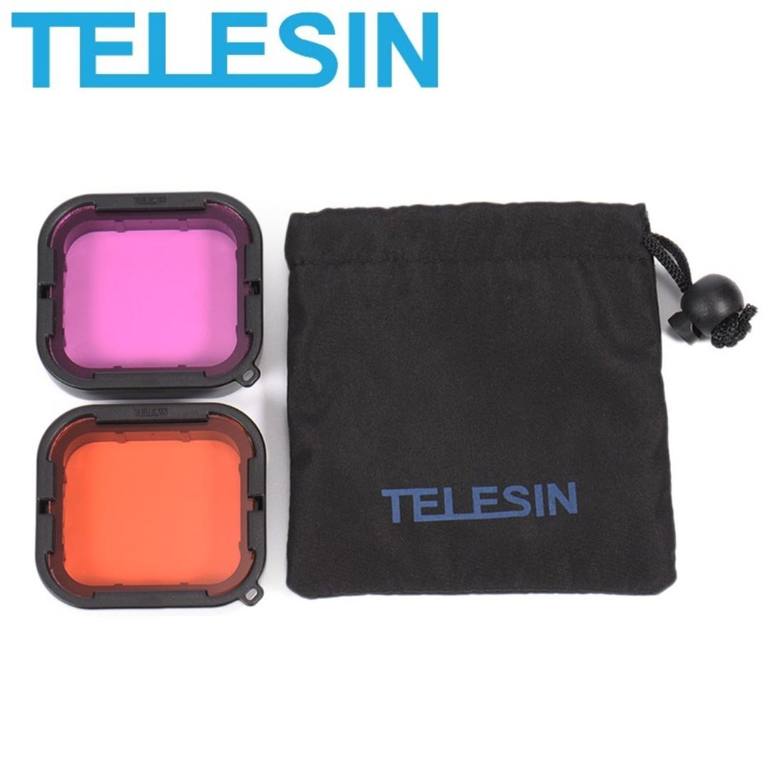 TELESIN Underwater Diving Red and Purple Filter Lens for