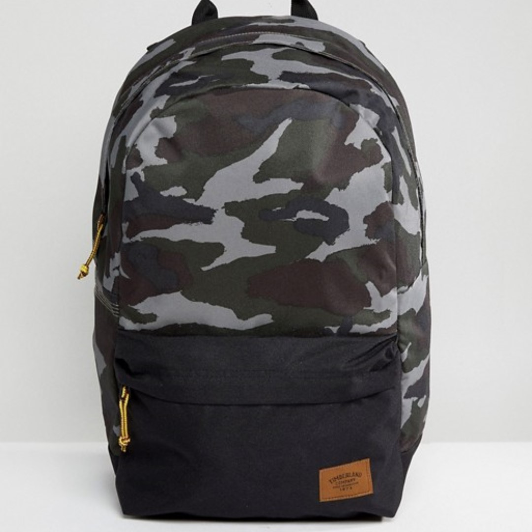 1410b70d0eac Timberland Backpack Crofton 22L in Green Camo Black