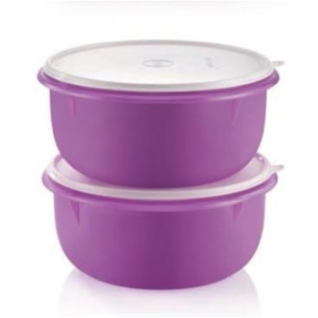 Tupperware Large Fix N Mix (2) 3.4L - Purple, Kitchen & Appliances on Carousell