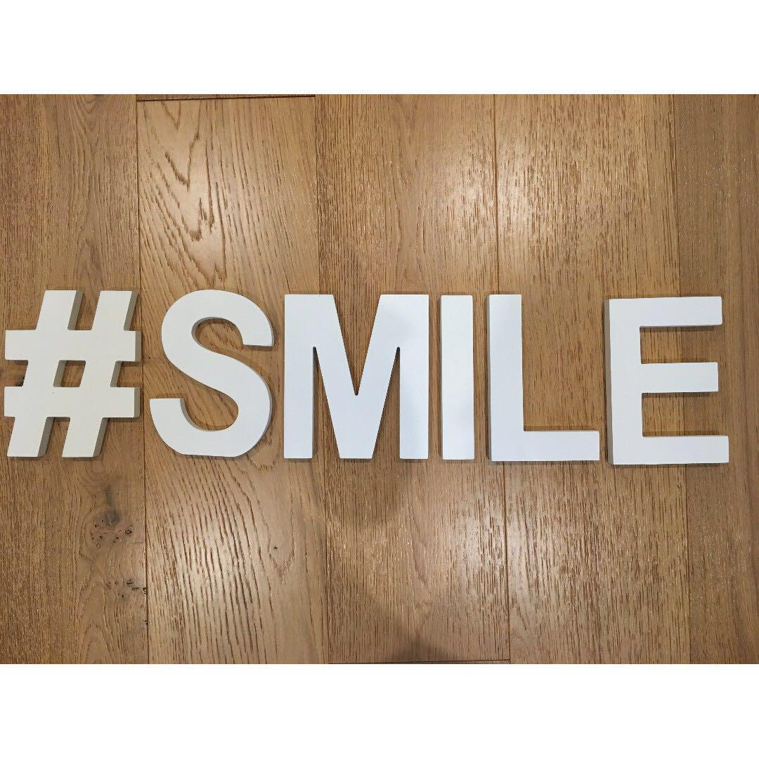 Typo White Wooden Letters Buy All Or Single Home Furniture Home