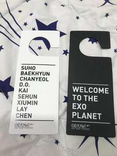 Exo Official Concert Goods - Door Sign Set