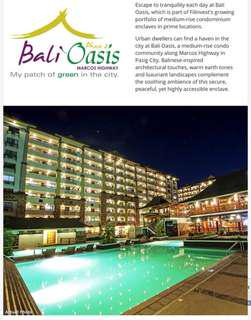 Affordable Rent To Own Condo in Pasig / BALI OASIS