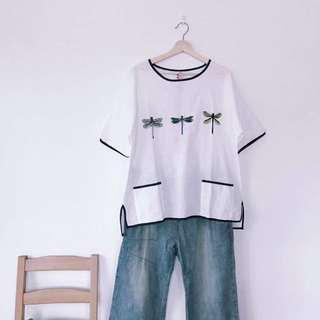 🚚 日系蜻蜓棉麻衣