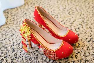 (婚後物資)西式褂鞋 34/35碼
