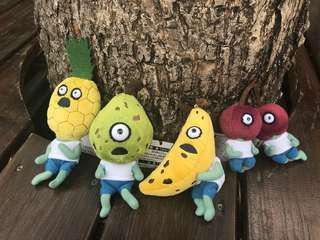 🚚 水果殭屍 鳳梨 西洋梨 香蕉 櫻桃 絨毛吊飾 絨毛娃娃 小吊飾 限購商品 現貨
