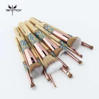 New Makeup Brushes 12PCS Set Bamboo