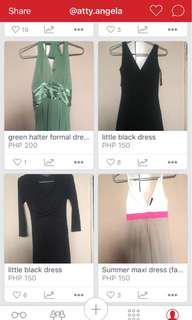 SALE!! buy one get one party dresses!! 250 only