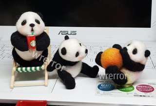 🚚 羊毛氈手作-熊貓