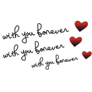 🚚 Temporary Tattoo (With you forever)